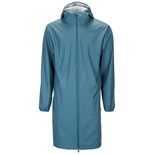 Rains Long Base Jacket regenjas heren jas, blauw, XS/S