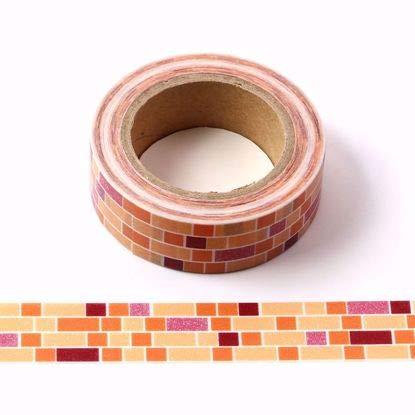 Colorati mattoncini design Washi tape–One roll 15mm x 10metres