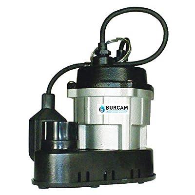 BURCAM 300781 1/2 HP Cast Iron Submersible Sump Pump Silver