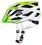 Uvex Air Wing Casco de Bicicleta, Niños, Lime White, 52-57 cm