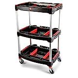 Adam's Standard Detailing Cart - Custom Mobile Rolling Utility Detailing Tool Cart Organizer For Garage DIY...