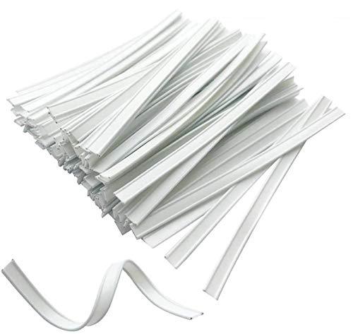 100 PCS Plastic Nose Bridge Wire for Face DIY Making, Washable Double Wire Nose Bridge Strips, 10CM Flat Nose Wire Clips Adjustable Plastic Pieces Strips Straps for Face DIY Making