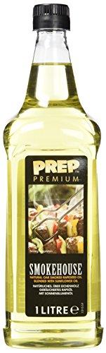 PREP PREMIUM Smokehouse - über Eichenholz geräuchertes Rapsöl mit Sonnenblumenöl 1 x 1000 ml PET Kräftiges Raucharoma für BBQ-Geschmack Ersatz für liquid smoke rauchöl