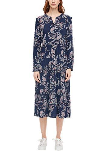 s.Oliver Damen 120.10.003.20.200.2040611 Kleid, Dark Blue AOP, 44