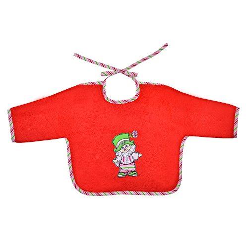 Mauz by wörner bébé clown rouge bavoirs, serviettes de bain et gant poncho peignoir, rouge, Ärmellätzchen 68x34cm
