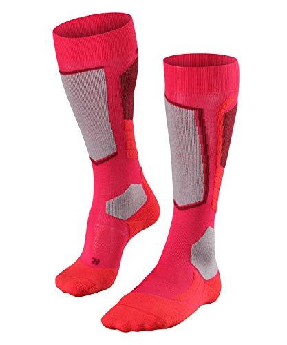 FALKE Damen, Skisocken SK2 Wool Merinowollmischung, 1 er Pack, Rosa (Rose 8680), Größe: 35-36