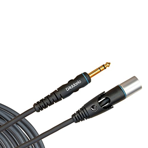 D'Addario cabo de microfone série personalizada, XLR macho para 1/4 polegada, 1,5 m