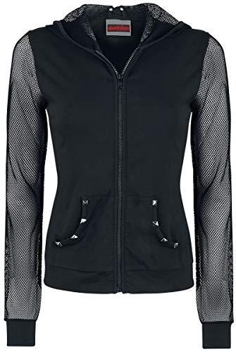 Jawbreaker jas met capuchon Nasty NET MESH Hoodie 4077 zwart