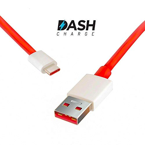 CROSSVOLT Dash Type C Fast Charging Cable Compatible for One Plus 6T / 6/ 5T /5 / 3T / 3 (Cable)