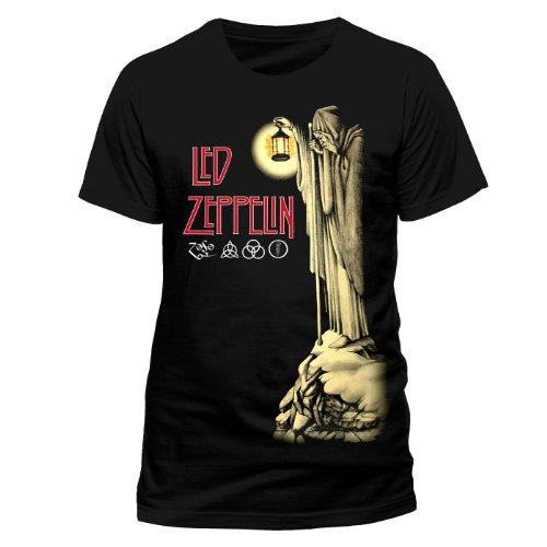 Collectors Mine - Camiseta de Led Zeppelin con cuello redondo de manga corta para hombre, Negro, 54 (XXL)