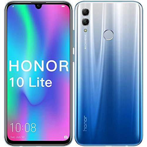 HONOR 10 Lite Telefono Cellulare, 3GB RAM + 128GB ROM, Display da 6,21 Pollici con Doppia Fotocamera AI 13MP + 2MP, HONOR Telefono Cellulare(Sky Blue)