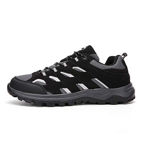 Fnho Botas de montaña Deportivas,Zapatos de Senderismo al Aire Libre,Zapatos de Senderismo Ligeros, Zapatos de Senderismo al Aire Libre-Negro_49