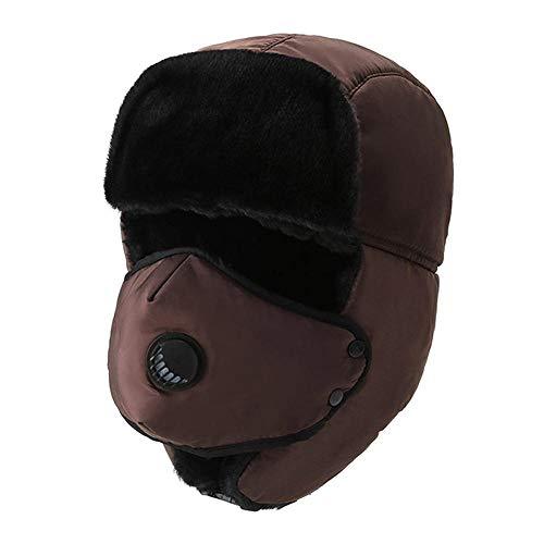 N-N Russischer Hut wasserdichte Warme Bomberhüte Winter Unisex Wiking Earmuffs Cap...