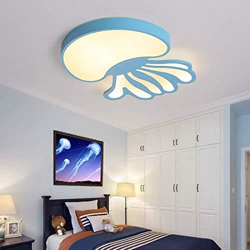 GaoF Lámpara de iluminación de araña Sala de Estar Creativa Dormitorio de los niños Forma de Medusa Luz de Techo LED Atenuación Continua Moda Hogar Restaurante Decoración Lámpara (Color: Azul)