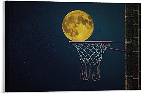 MXXC Abstract ArtMoon Basket Poster Pittura Decorativa su Tela Soggiorno Poster Camera da Letto 70x90cm Senza Cornice