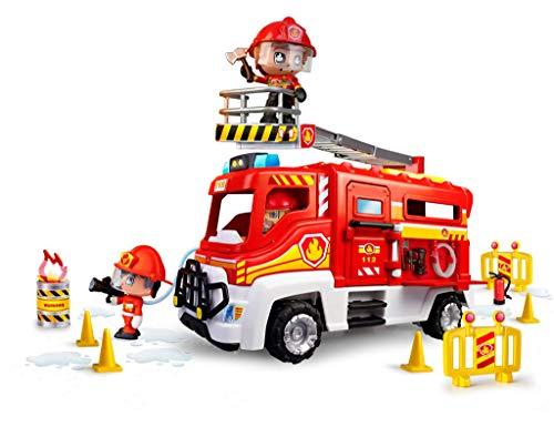 Pinypon Action- Camión de Bomberos para niños y niñas de 4 a 8 años (Famosa 700016237)