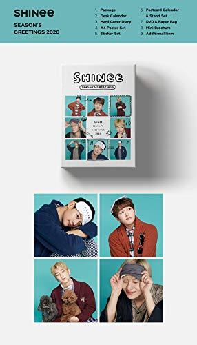 2020 シャイニー SHINee SEASON'S GREETINGS カレンダーセット+DVD+オンパックポスター+KPOP MARKET特典両面フォトカードセット付き [韓国盤]