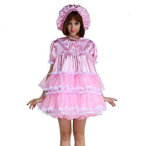 GOceBaby Adult Baby Dreams Sissy Girl Lockable A Line Dress Uniform Crossdeess (Medium) Pink