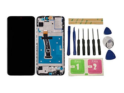Flügel für Huawei P Smart 2019 Pot-LX3 Pot-LX1 POT-AL00 (Nicht P Smart 2017 und Nicht P Smart Plus) Display LCD Ersatzdisplay Schwarz Touchscreen Komplett mit Rahmen Ersatzteile & Werkzeuge & Kleber