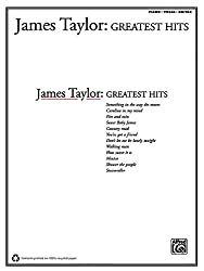 James taylor: greatest hits piano, voix, guitare