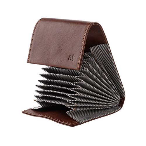 pas cher un bon Inserts accordéon et 11 étuis pour cartes de crédit Antica Toscana en cuir véritable…