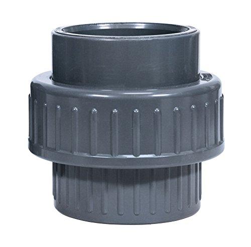 Oase 52108 PVC Accessoires d'embrayage pour Filtre Pompes et ruisseau, Gris, 12 x 15 x 1,5 cm