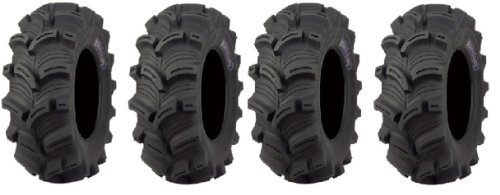 Full set of Kenda Executioner (6ply) 25x8-12 and 25x10-12 ATV Tires (4)