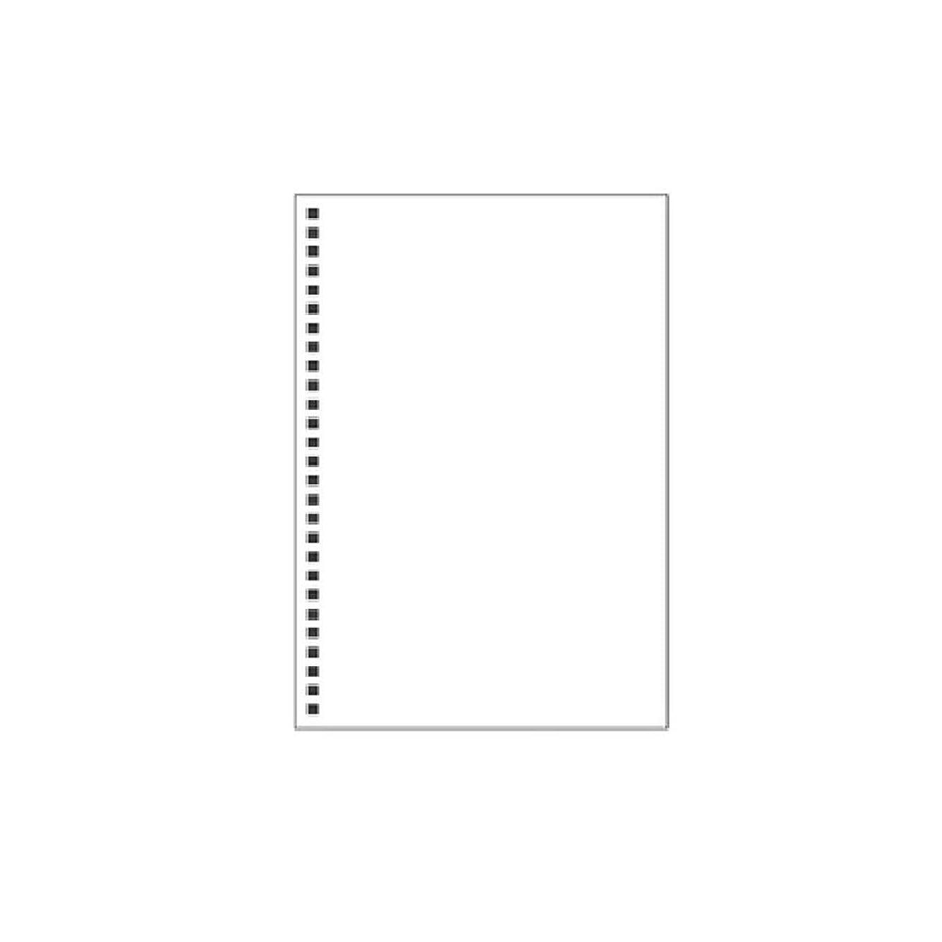 人事準備蒸留するTOYANDONA 学校のオフィスの文房具のためのルーズリーフノートA6バインダージャーナル透明カバーノート