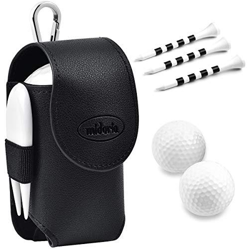 MIDORIA ゴルフボールケース ボールポーチ 2個入れ用 軽量 PUレザー ボール収納袋 ゴルフポーチ ボール入れ...