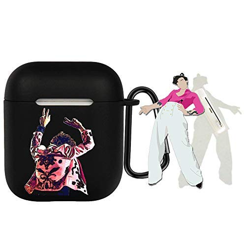 Harry Styles Merch, Harry Styles Charging Case Cover Compatible with AirPod 1&2|Harry StylesPin (1/2,C)