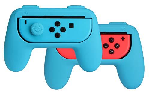 AmazonBasics – Kit de empuñaduras para mandos Joy-Con de Nintendo Switch – Azul