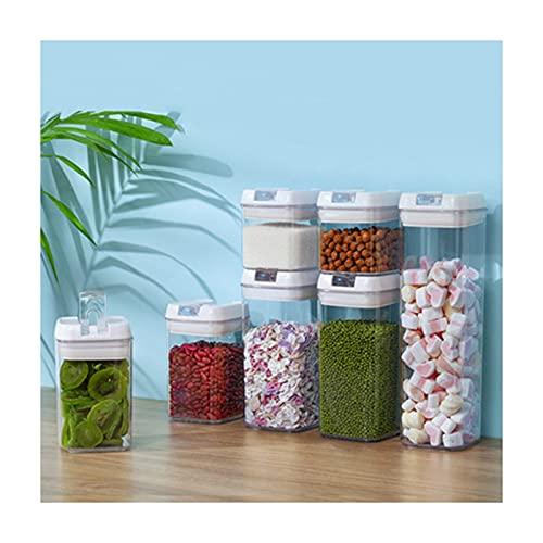 MDZZ Recipientes de Almacenamiento de Cereales Botes Cocina Alimentos Se Mantiene Fresco Almacenar Cereales, Avena, Pasta, Galletas, Etc contenedores Cocina Transparente