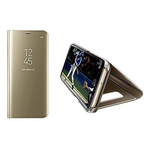 Aursen Custodia Samsung S8 Plus Cover a Specchio Samsung Galaxy S8 Plus Ideale per porteggere Telefono - Oro