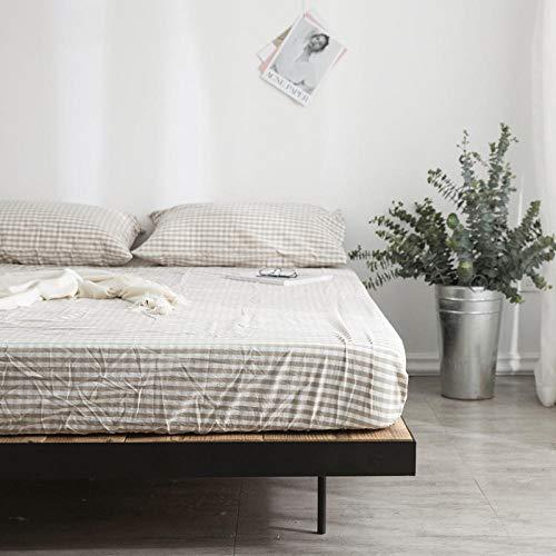 GmanXier Sábana de algodón Colcha colchón sábana de protección Cama de Estudiante sábana Ajustable Individual Doble Cama King Size regalo-1A90x200cm + 15cm