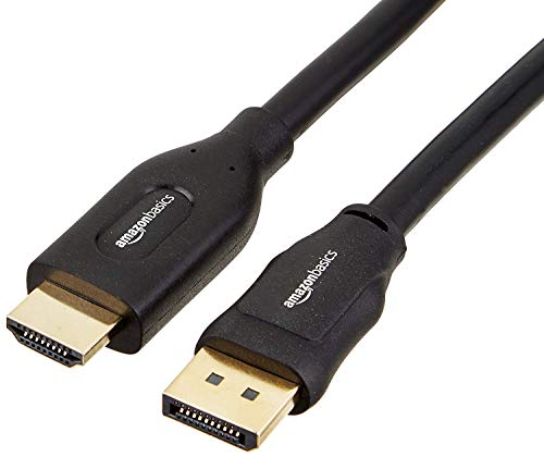 AmazonBasics - Cable adaptador DisplayPort a HDMI (4.5 m)
