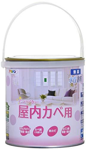 アサヒペン NEW水性インテリアカラー屋内カベ 1.6L ホワイトイエロー