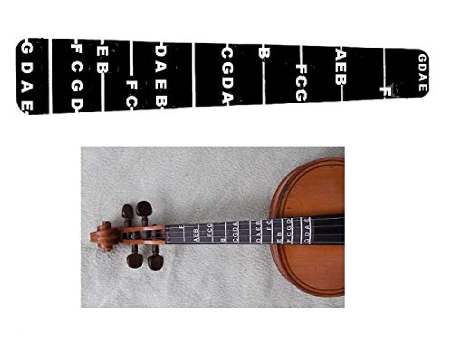 1 Violin Fiddle Fingerboard Fret Guide Labels 4/4 Fingering Chart
