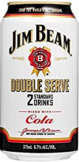 Jim Beam White & Cola Double Serve 375mL Can 375mL Case of 24