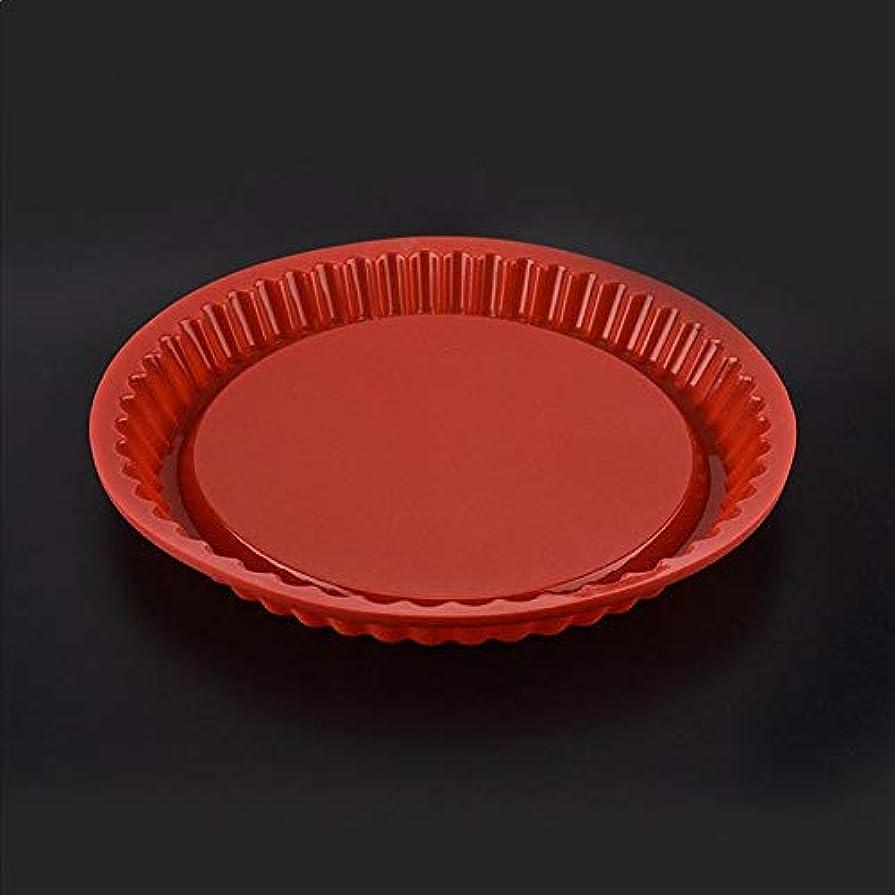 染料値下げ頼るリリースに27cmの丸型シリコンケーキベーキングパンの高温度ベーキングツールパンモールド簡単に(ランダムカラー) メーカー (Color : Red)