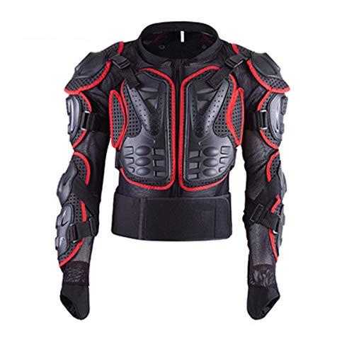 LHMYHHH Motorrad Brust Rüstung Jacke Taillenmantel Schutzjacke Taillenmantel Körper Rüstung Rüstung Schutzausrüstung Street Sport Motocross Guard MTB Racing,Rot,S