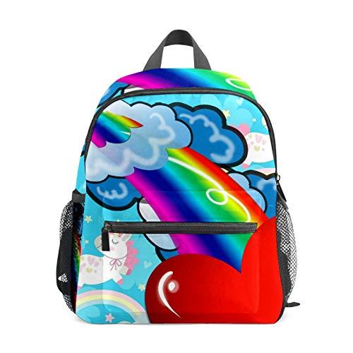 Mochila estudiantil para niños y niñas, diseño de unicornio, estilo casual, bolsa de viaje para la escuela, regalo