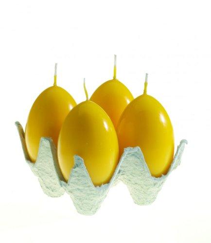 Eierkerze in gelb von Idena 4er Set (Ostern)