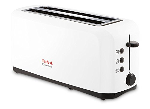 Tefal Express 2 broodrooster, 1400 W, roestvrij staal/kunststof, 2 sleuven, wit