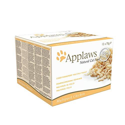 Applaws - Comida humeda para gatos gato lata multi pollo 12x70 gr (paquete de 4, total 48 latas)