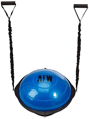 AFW 106015 106015-Plataforma de Equilibrio Convexa, agarres, elásticos de Resistencia, Color Acero, Talla M, Hombres, U