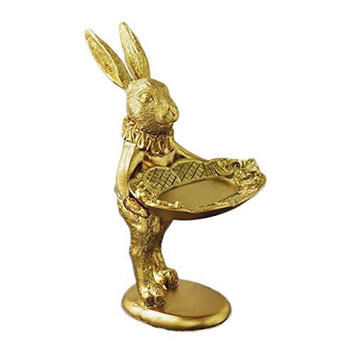 Oshhni Soporte de Exhibición de Joyería, de Conejo Dorado, Horquilla de Conejito, Regalo para Mujeres Y Niñas