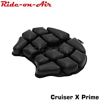 Ride-on-Air – Cruiser X – Air Inflatable – Motorcycle seat Cushion – for Large Cruisers – Durable, Soft TPU Cushion, Premium Mesh Cover with Genuine YKK Zipper and Anti-Slip Bottom (Prime Variant)
