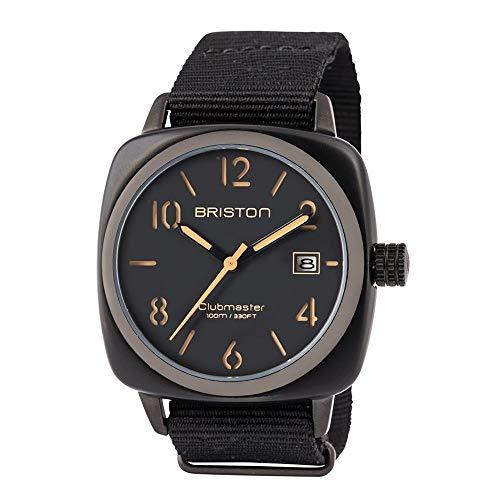 Briston Reloj Analógico para Hombre de Cuarzo con Correa en Nailon 14240-PBAM-B-4