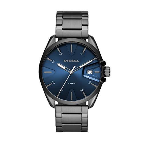 Diesel Herren Analog Quarz Uhr mit Edelstahl Armband DZ1908