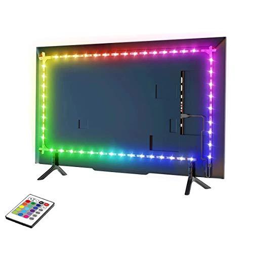 LED-Lichtbänder für 32-75-Zoll-Fernseher, wasserdichtes RGB-USB-LED-Hintergrundbeleuchtung, TV-LED-Hintergrundbeleuchtung für Flachbildfernseher, PC, AUTO 16